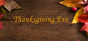 Main Library Early Closure - Thanksgiving Eve