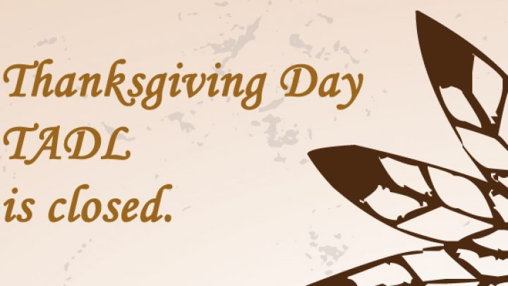 Thanksgiving: All library locations closed