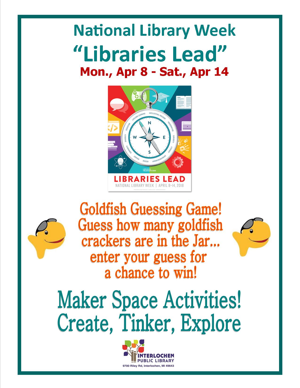 Guessing Game and Maker Space Activities during National Library