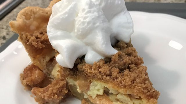 Buttermilk Apple-Custard Pie