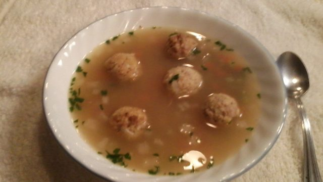 Wild Rice & Meatball Soup