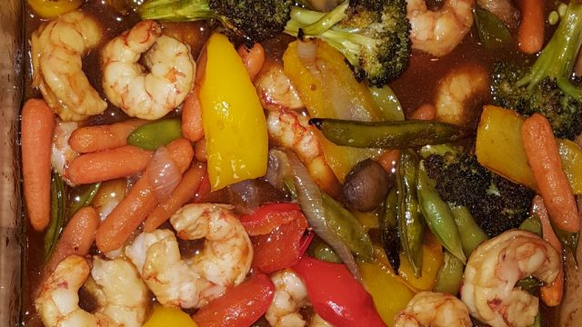 Shrimp Stir Fry Casserole