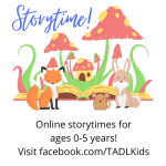 Bored little ones? We have online storytimes!